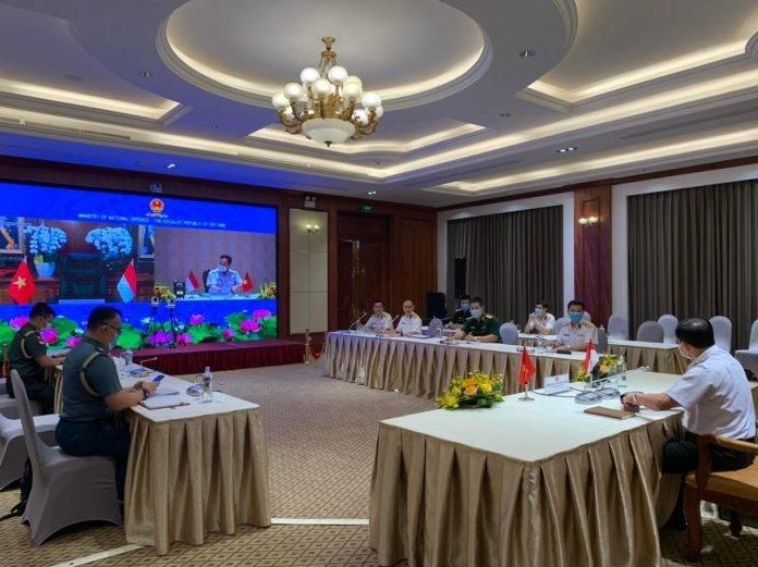 KSAL Lakukan Video Confrence Dengan Commander in Chief Vietnam People's Navy